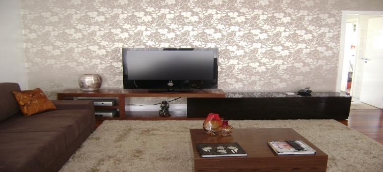 Salas De Tv Decoradas Con Papel De Parede ~ Decoração de Sala comPapel de Parede Como Escolher