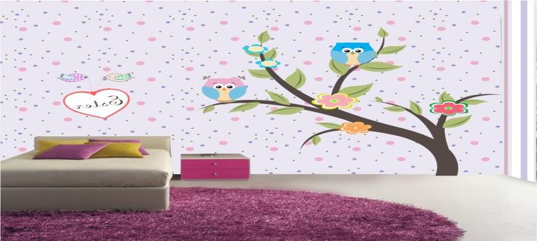Papel de parede para quarto infantil feminino como usar for Papel de pared infantil