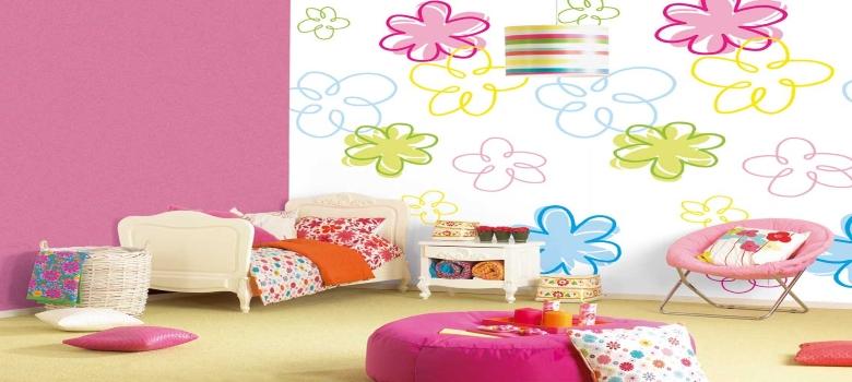 Papel de parede para quarto infantil feminino como usar - Papel infantil para pared ...