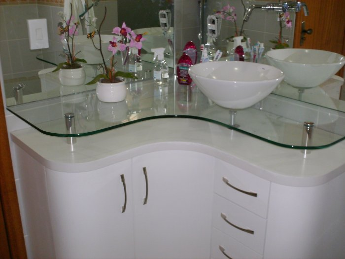Gabinete para Banheiro com Cuba  Como Usar -> Banheiro Medio Simples