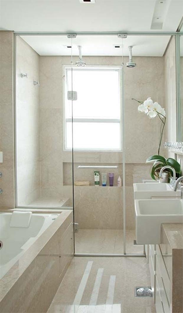Pisos e Revestimentos para Banheiros  Como Usar # Banheiro Decorado Com Revestimento Eliane