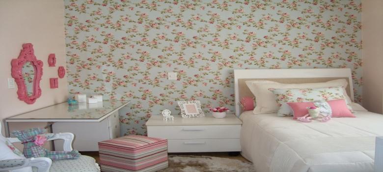 Papel de parede para quarto de meninas como usar for Como alisar paredes irregulares