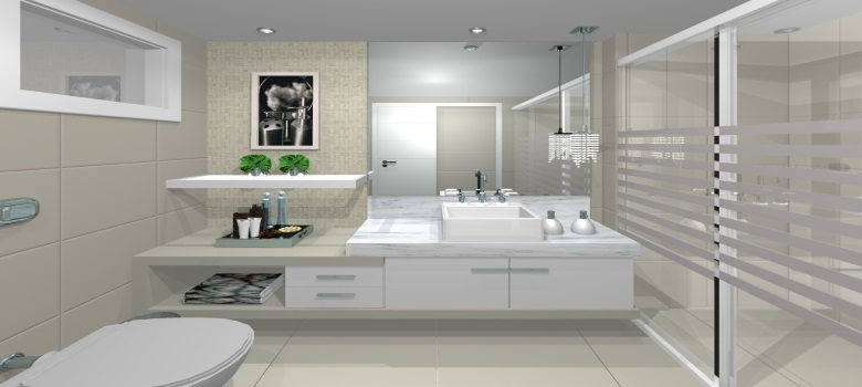 Dicas de Decoração de Banheiros Modernos -> Banheiro Simples Feminino