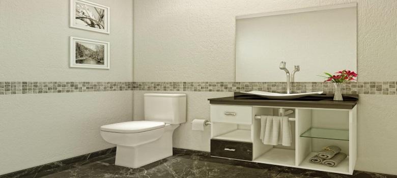 Decoração de Banheiro Simples e Barata  Como Fazer -> Banheiros Bem Simples