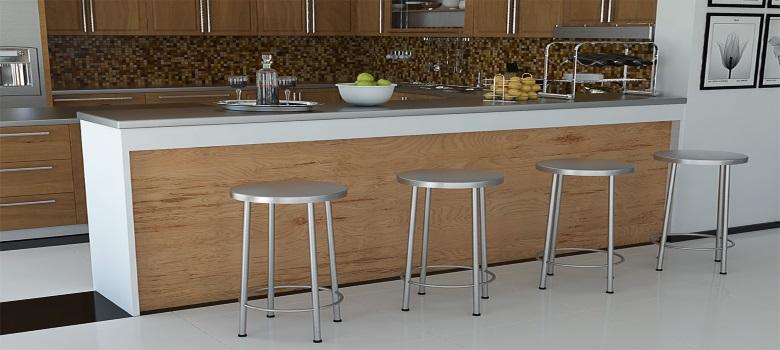 uma medida padrão para instalar a bancada que divide sala e cozinha
