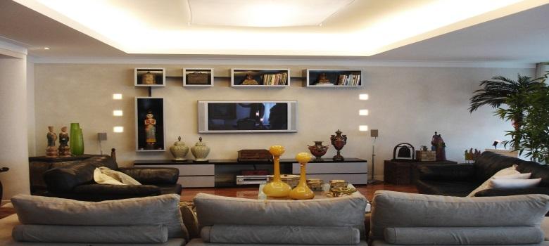 decoracao de sala estar : decoracao de sala estar:Decoração de Sala de Estar com Estantes – Como Fazer
