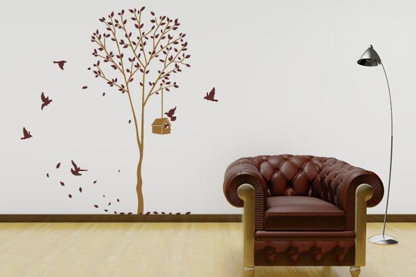 Artesanato Loja Sp ~ Adesivos de parede para sala de estar, saiba como