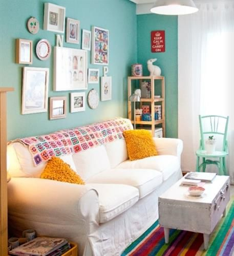 Sala De Estar Linda E Barata ~ Dicas de decoração para salas pequenas  Como Fazer!