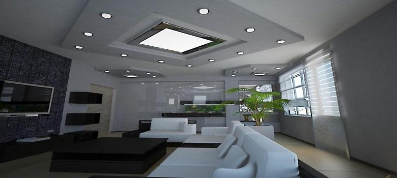 Sobre luminárias de teto para sala de estar