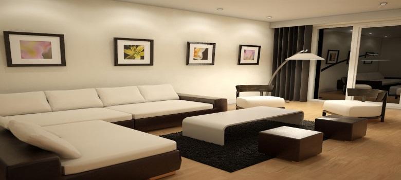 Sala De Estar Moderna E Simples