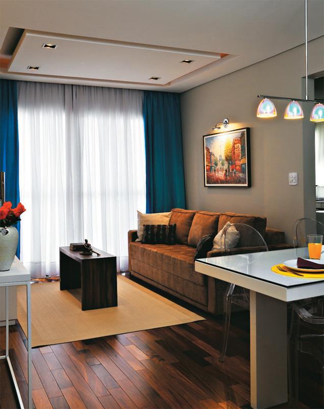 Sala Pequena Na Cor Azul ~ corparaaparededasala5