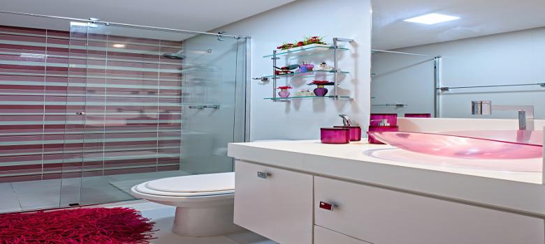 Porque Amamos Decoração Rosa Para Banheiro -> Cuba Para Banheiro Rosa