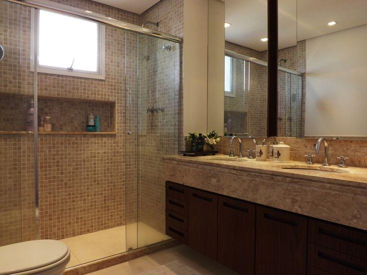 Modelos de banheiro com pastilhas para você criar sua decoração -> Banheiro Com Acabamento Em Pastilhas