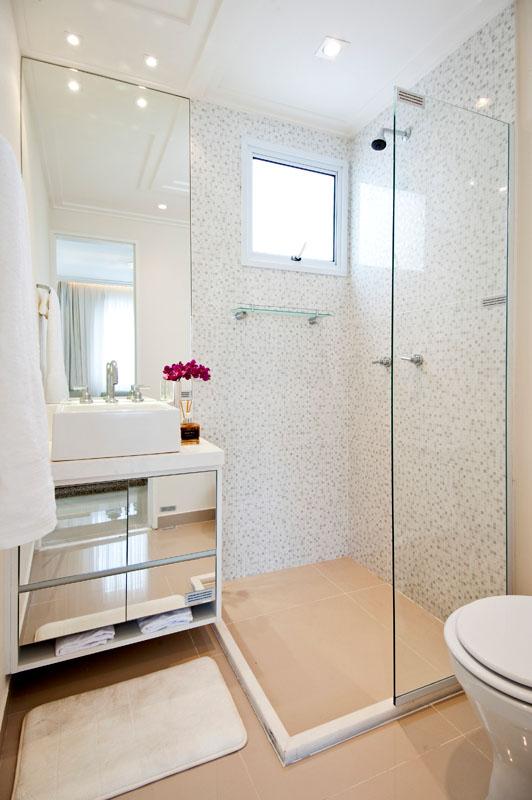 Banheiro Pequeno Decorado  Guia Completo de Decoração -> Espelhos Banheiro Simples