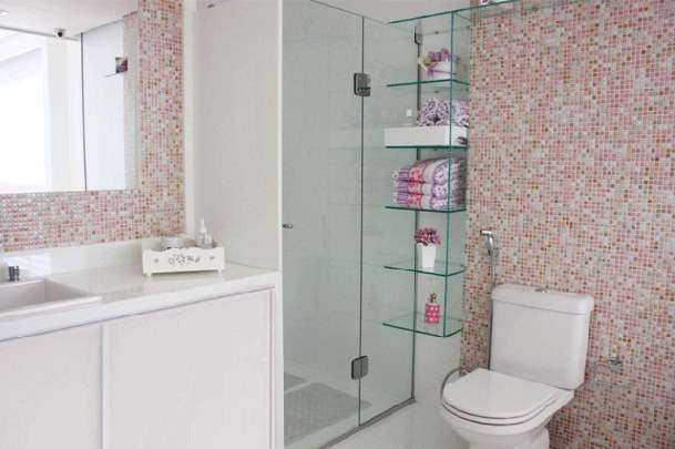 Banheiro Pequeno E Bonito 07 Pictures to pin on Pinterest -> Banheiros Pequeno Bonito