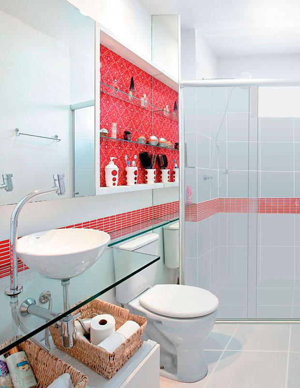 Banheiro Pequeno Decorado  Guia Completo de Decoração -> Decoracao De Banheiros Super Pequenos