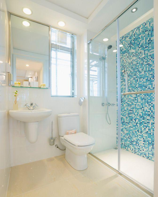 Banheiro Pequeno Decorado  Guia Completo de Decoração -> Como Colocar Pia De Banheiro Na Parede