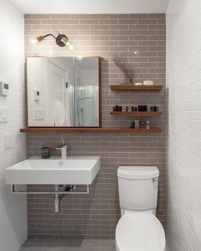 Banheiros pequenos  Dicas de decoração, fotos, como decorar -> Projeto De Banheiro Muito Pequeno