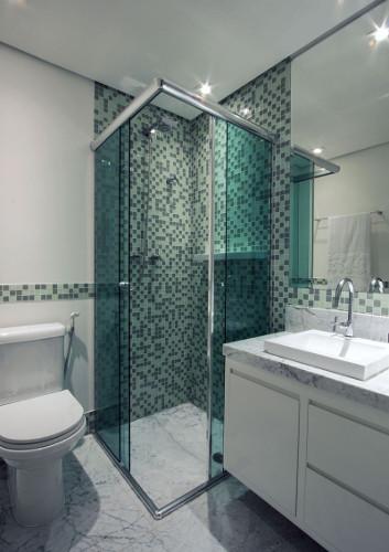 Banheiros pequenos  Dicas de decoração, fotos, como decorar # Fotos De Decoracao De Banheiros Muito Pequenos