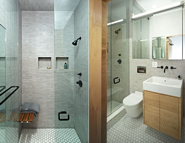 Banheiros pequenos  Dicas de decoração, fotos, como decorar -> Fotos De Decoracao De Banheiros Muito Pequenos