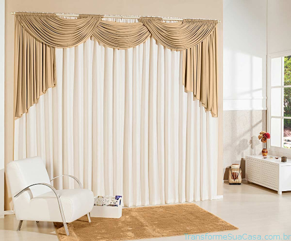 Cortinas na decora o como utilizar for Como poner ganchos de cortinas