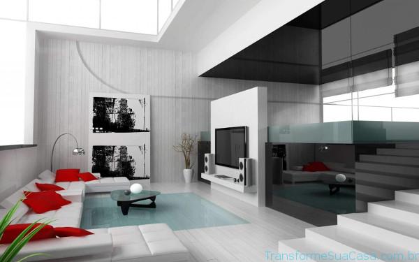 Decora o de casas modernas como decorar profissionalmente for Casas modernas grandes por dentro
