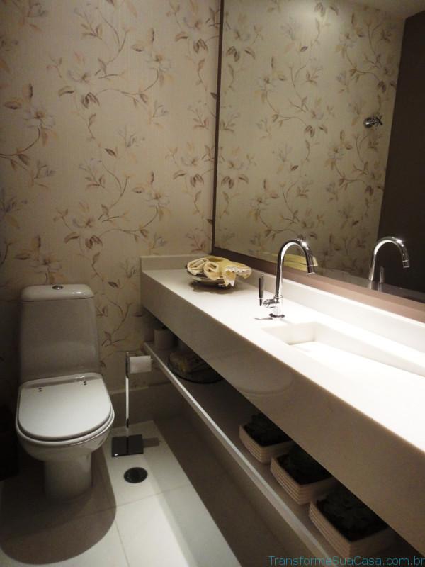 Papel de parede para lavabo – Como usar 2 dicas de decoração como decorar como organizar