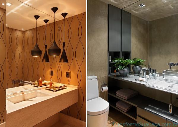 Papel de parede para lavabo – Como usar 4 dicas de decoração como decorar como organizar