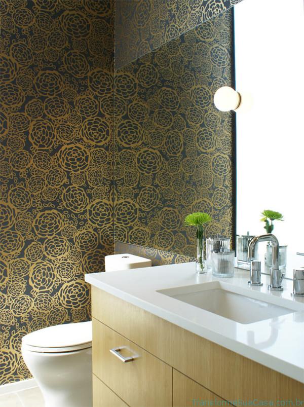 Papel de parede para lavabo – Como usar 8 dicas de decoração como decorar como organizar