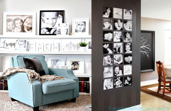 Porta-retratos na decoração – Como usar 2 dicas de decoração como decorar como organizar