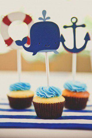 Chá de bebê de marinheiro
