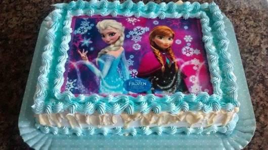 Decoração Frozen o bolo decorado