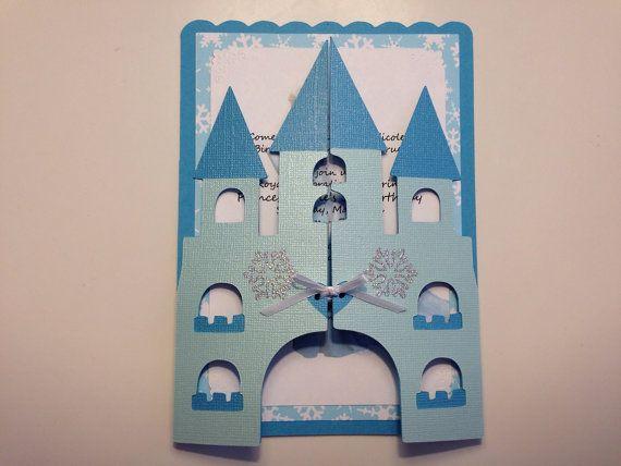 Os convites para decoração Frozen