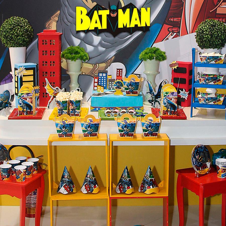 Os temas de festa infantil na MZ Decorações Batman