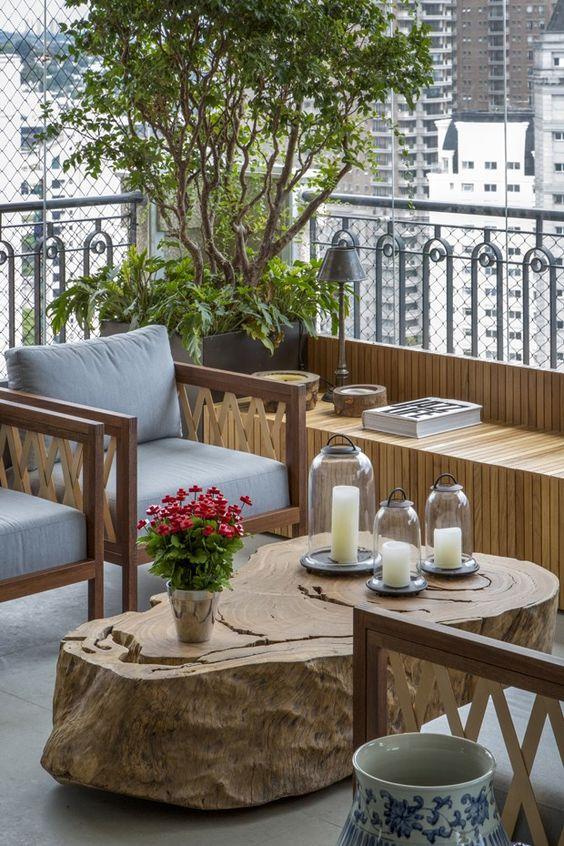 Ideias para montar jardins pequenos varanda ou sacada